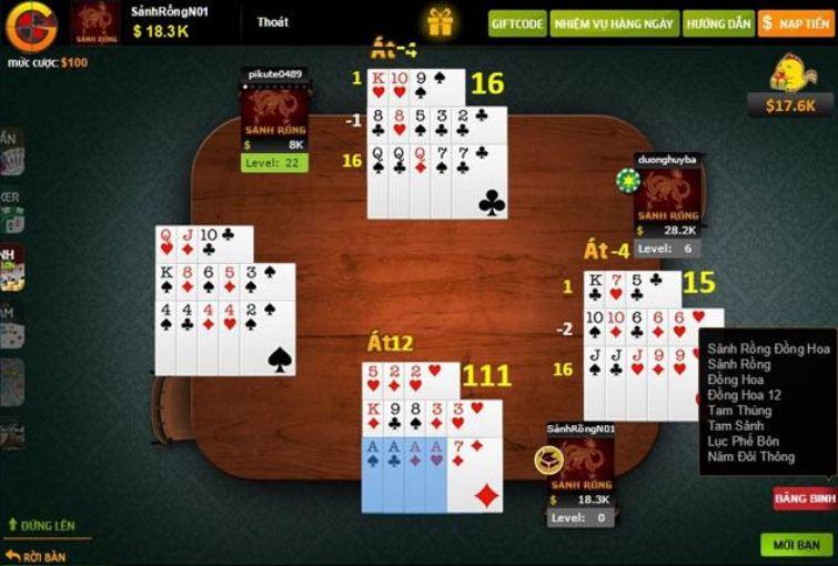 Hướng dẫn cách chơi mậu binh online tại w88