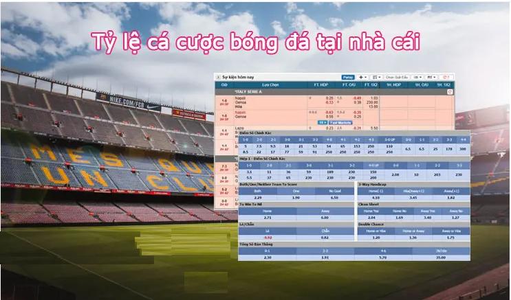 Các loại tỷ lệ cá cược bóng đá hiện nay tại nhà cái w88.