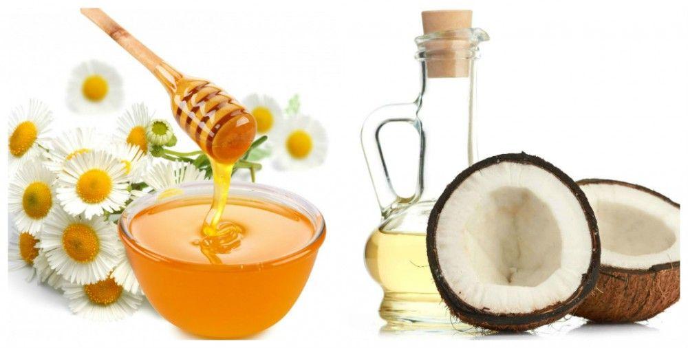 trị mụn với mật ong và dầu dừa