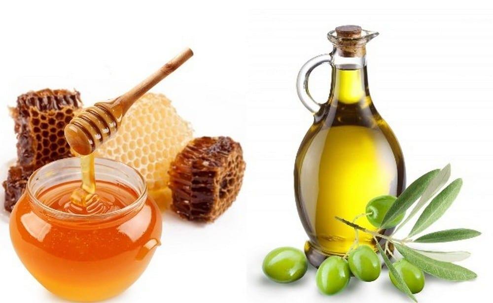 trị mụn với mật ong và oliu